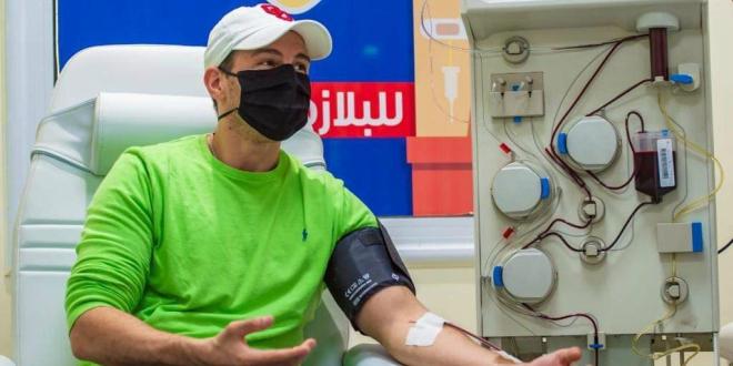 رامي رضوان يتبرع ببلازما الدم