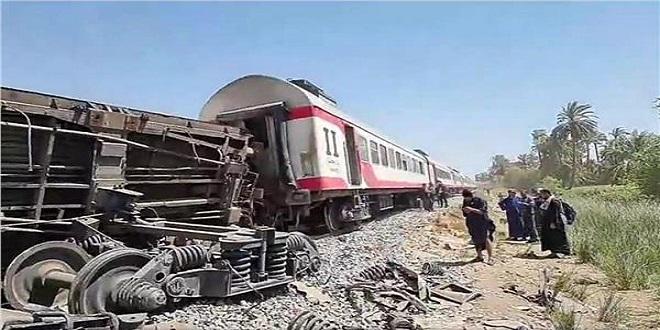 حادث تصادم قطاري سوهاج