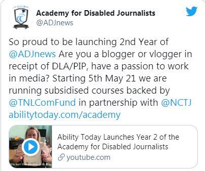 أكاديمية تدريب الصحفيين من ذوي الإعاقة