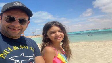 مصطفى قمر وابنته جودي