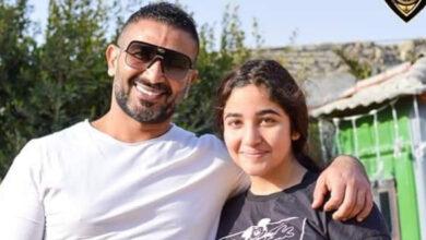 أحمد سعد يحتفل بعيد ميلاد ابنته