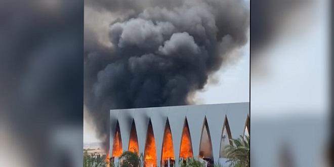 حريق يلتهم قاعة افتتاح مهرجان الجونة
