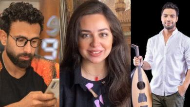 هبة مجدي وأحمد جمال وإبراهيم فايق